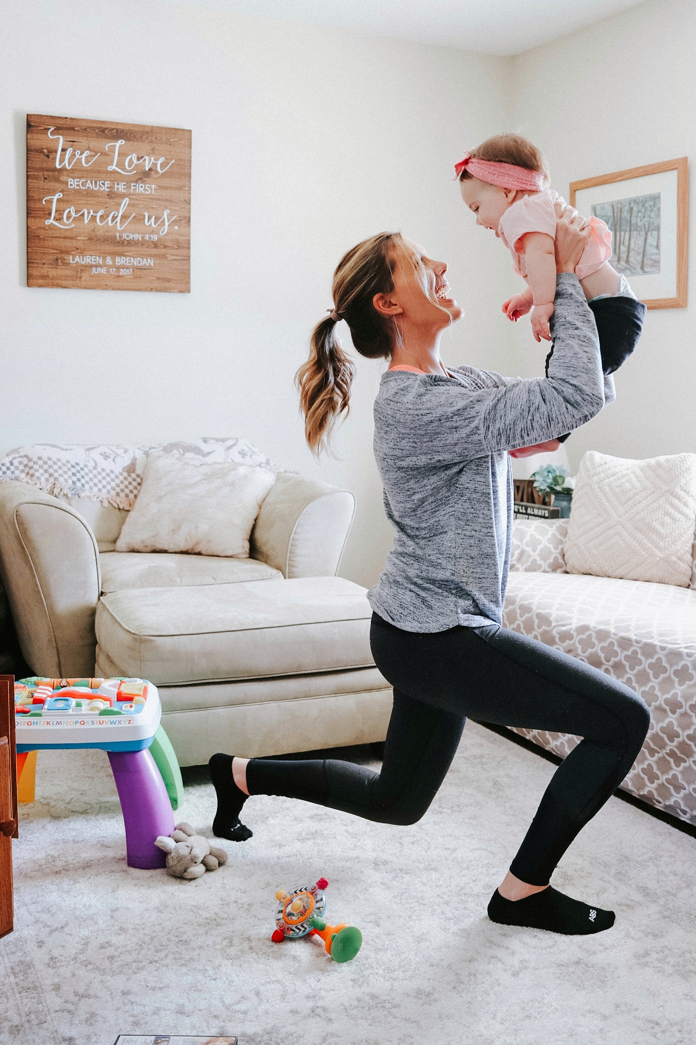 staying active as a stay at home mom