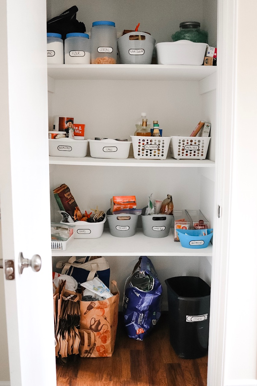 small pantry organization on a budget