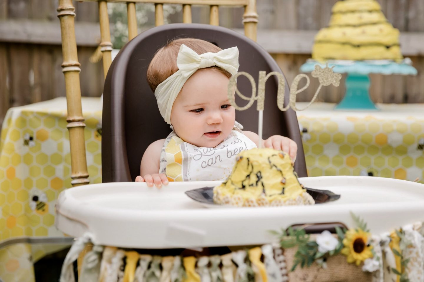 bee themed first birthday