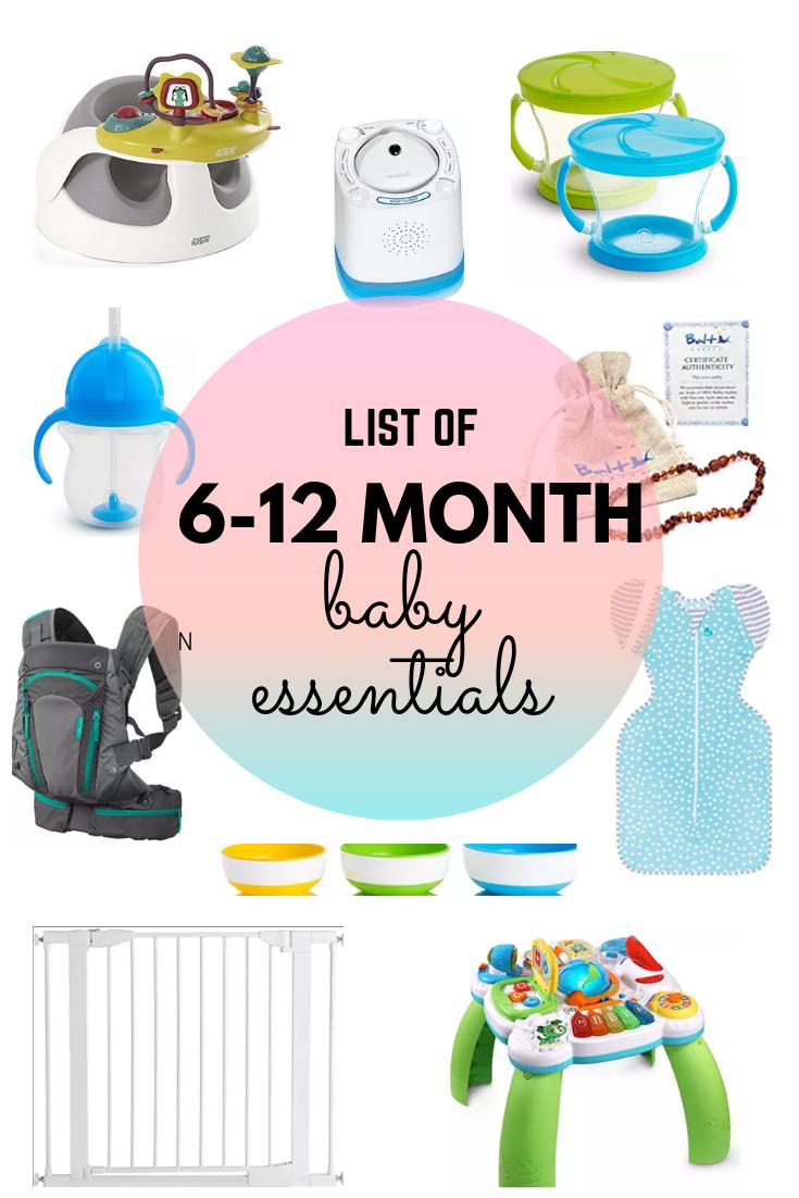 baby essentials for 6-12 months
